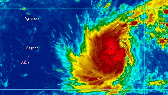 Satellite image of the tropical depression, as of Wednesday morning.