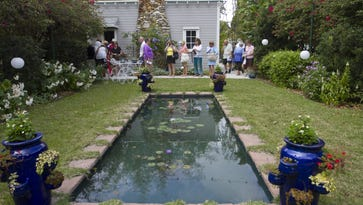File photo shows  a behind-the-scenes garden tour at Edison & Ford Winter Estates in Fort Myers. Weather permitting, a live Facebook video shoot on Tuesday, March 21, will use drone technology to give soaring views of the historic winter homes and gardens.