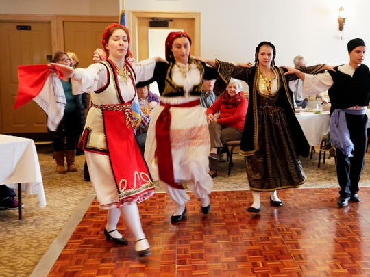 The St. Spyridon Greek Dancers perform at Taste of Greece at Breaking Bread Saturday March 5, 2016 in Sheboygan. The event was sponsored by the St. Spyridon Greek Orthodox Church in Sheboygan and was designed to give a taste of Greece during the winter.