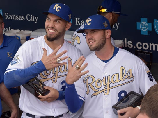 """I have no problems showing it off,"" Eric Hosmer, here"
