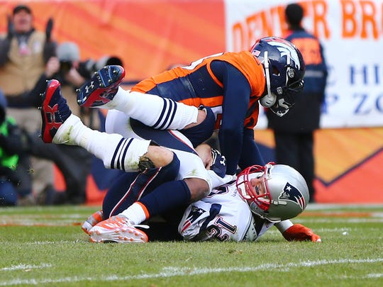 Denver Broncos outside linebacker Von Miller (58), shown here sacking Tom Brady, will lead the NFL's best defense against the Colts in Week 2.
