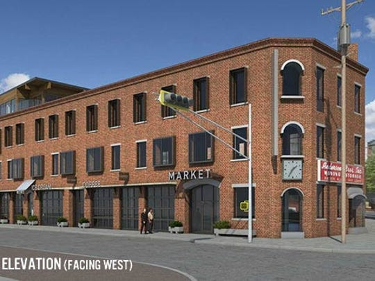 An artist's rendering of the planned renovation of the old Anderson building in Red Bank.