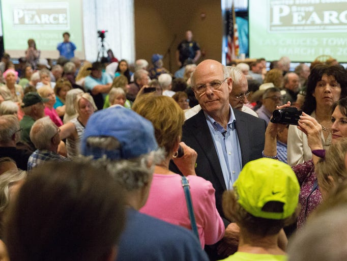 US Representative Steve Pearce, takes a question from
