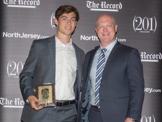 Austin Albericci with New Jersey Devils' Head Coach