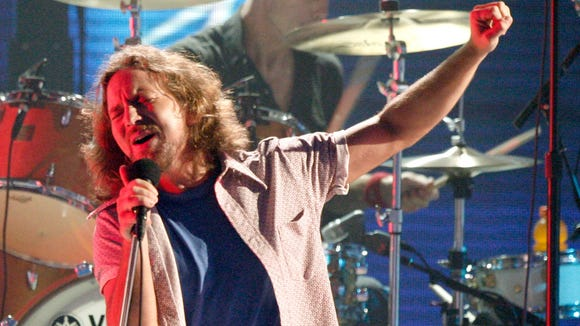 Pearl Jam and Eddie Vedder (pictured) are once again the most-wanted act, according to fans.