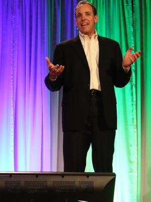 Darren Pleasance, global customer acquisitions director for Google, speaks at Envision 2016 fundraiser for Strategic Economic Development Corporation (SEDCOR) on Tuesday, May 3, 2016 at the Salem Convention Center.
