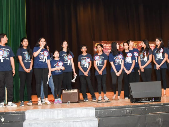 The students at J.P. Stevens High School coordinated an evening of song and dance to raise money for autistic children in India.