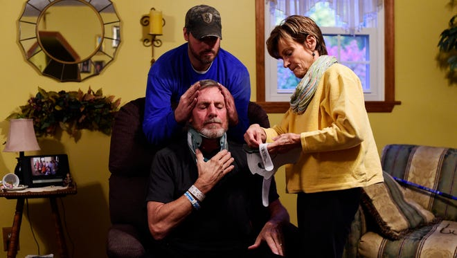 Rodney Markle fell from his tree stand while hunting, suffering multiple fractures.