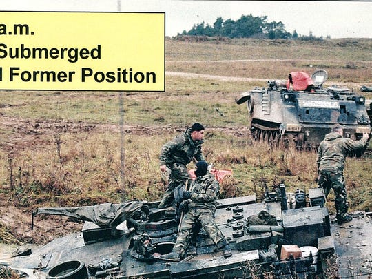 This 2002 Army photo shows the Abrams M1A1 tank driven