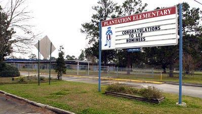 Plantation Elementary School is seen on Kaliste Saloom Road. Some school board members are proposing renaming the school in honor of Cpl. Michael Middlebrook.