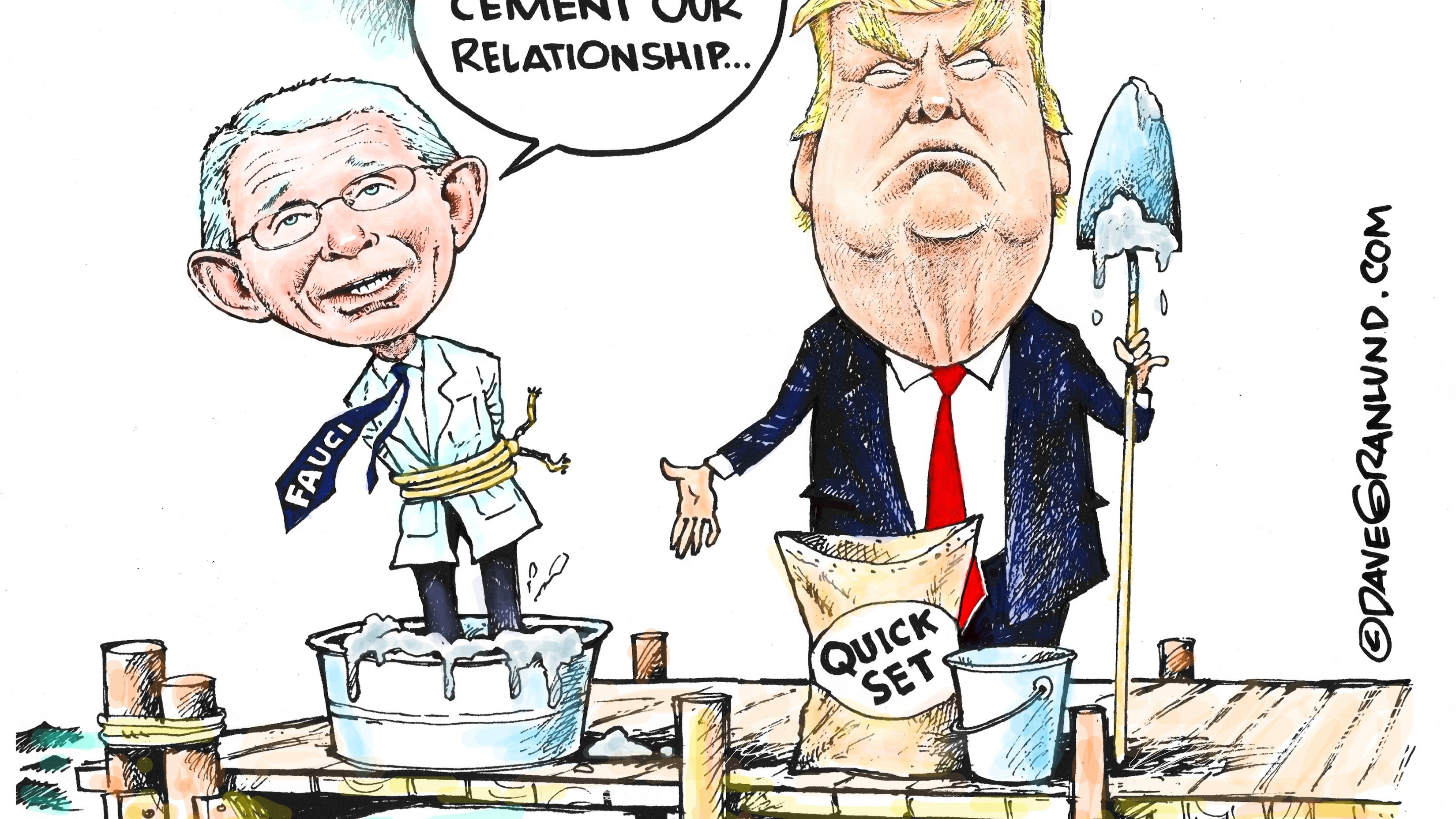 Granlund cartoon: Trump cements relationship with Fauci