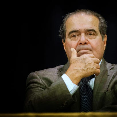 Supreme Court Justice, Antonin Scalia, is introduced