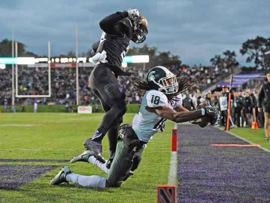 NCAA Football: Michigan State at Northwestern