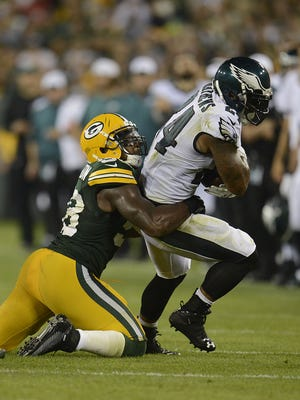 The Packers placed inside linebacker Sam Barrington on injured reserve Tuesday with a foot injury.