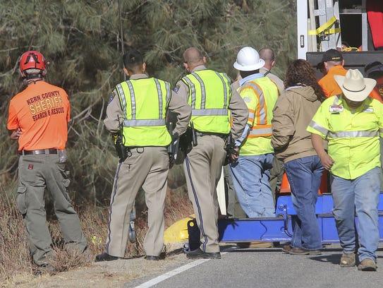 California Highway Patrol officers, Kern County Sheriff's