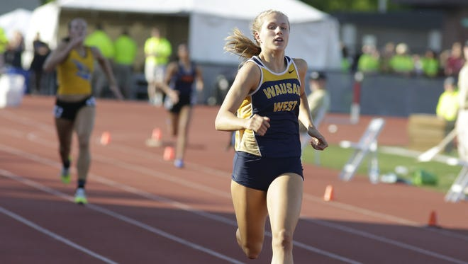 Wausau West's Brooke Jaworski broke the Division 1 girls 400 record twice this weekend at the WIAA state meet in June.