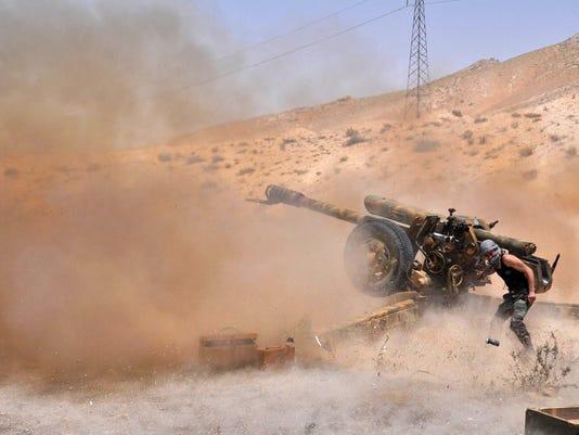 TOPSHOTS-SYRIA-CONFLICT-PALMYRA
