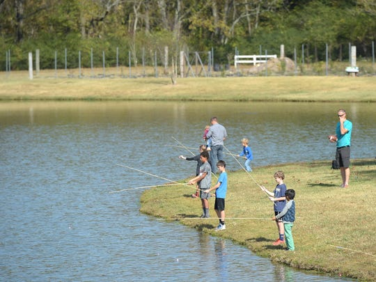 Alexandria Community Park hosts a kids fishing derby on Saturday.