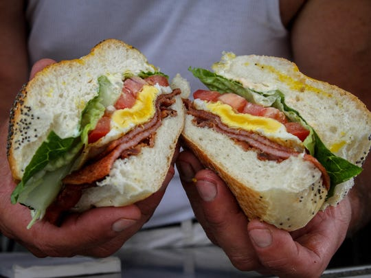 The PBLT – pork roll, bacon, lettuce and tomato – is