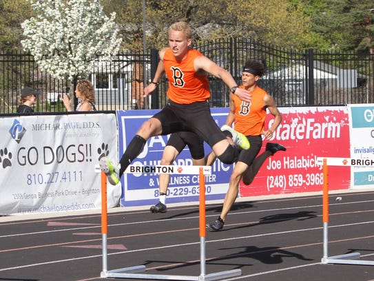 Brighton's Tommy Kocab swept the 110 and 300 hurdles