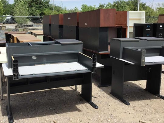These desks will be included in a city auction taking place Aug. 28, 2018.