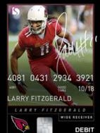 Larry Fitzgerald is featured on a new debit card.