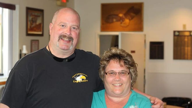 Julie Loomis, right, confirmed that her husband, Delbert Arthur Loomis, died Friday from injuries he suffered when his 2014 Harley-Davidson Street Glide crashed on U.S. 23 in Hartland Township on Wednesday.
