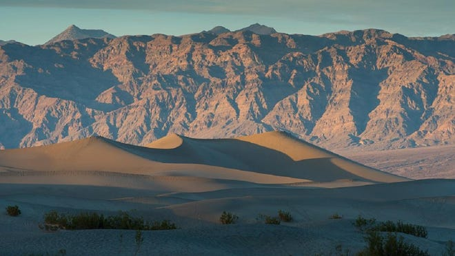 The Eureka Dunes are the second tallest dunes in the country, towering over 700 feet.