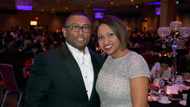 Tiffany Albert, CEO of The Blue Care Network, and her husband, Derek, enjoy the Kidney Ball.