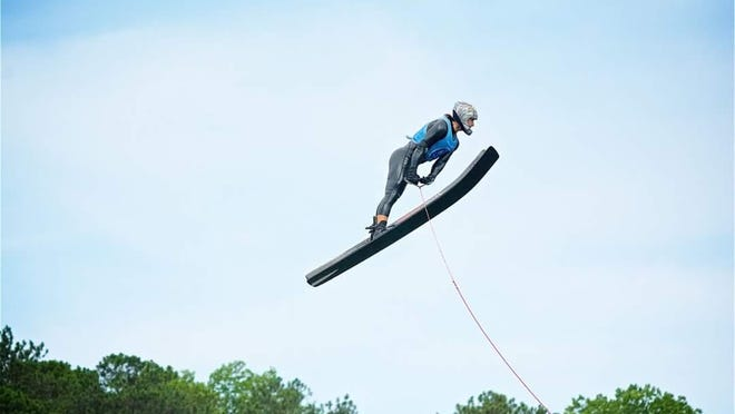 Palm Bay's Ryan Dodd jumped 254 feet on July 1 in a Palm Bay lake. The jump is awaiting verification as a world record.
