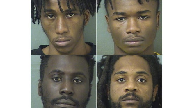 Gregory Dent (top left), John Chew (top right), Tamaul Kyles (bottom left) and Jeremiah Hinds