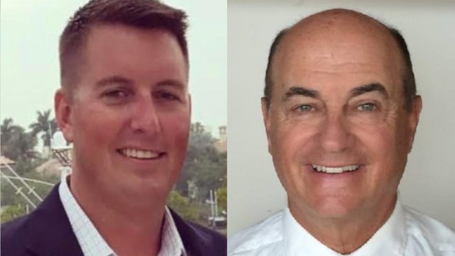 Cameron May, left, and Councilman Wayne Posner are running in the sole municipal election on the ballot in Jupiter next week.