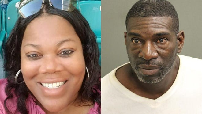 Ronald Jerome Gamble, right, faces a murder charge in the December 2019 death of his girlfriend Rochelle Demmings, right.