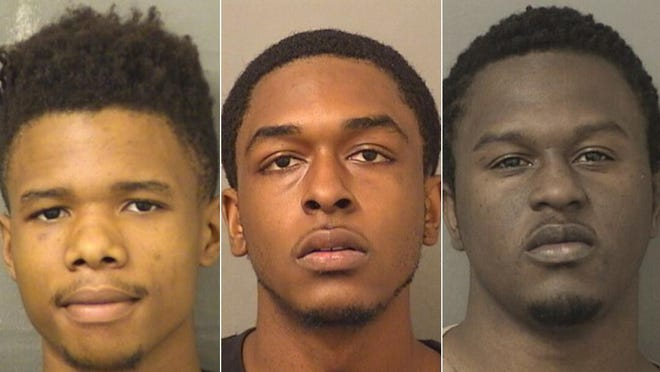 Three men charged with racketeering for their reported involvement in the notoriously violent Firehouse Clique have accepted plea deals. Devonte Igwenagu, left, and Deandre Burgess, right, will serve five-year prison sentences, and Rashar Henry, center, will serve 3 1/2 years.