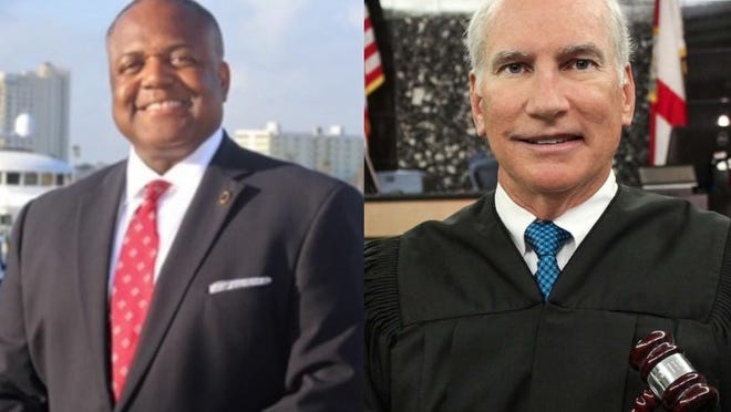 Attorney Henry Quinn Johnson, left, is challenging Palm Beach County Circuit Judge Jeffrey Dana Gillen in the Aug. 18 primary.