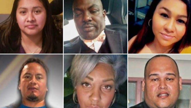 Dead from COVID-19: (Top, from left) Claudia Martin, 22; Dieugrand Nazaire, 43; Claribel Cardenas-Gamboa, 33 (Bottom, from left) Jose Antonio Sapon Alvarez, 35; Nikima Thompson, 41; Jose Diaz Ayala, 38.