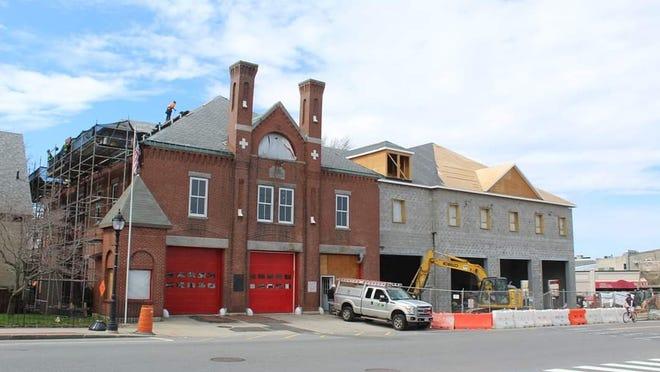 The Moody Street Fire Station project in progress.