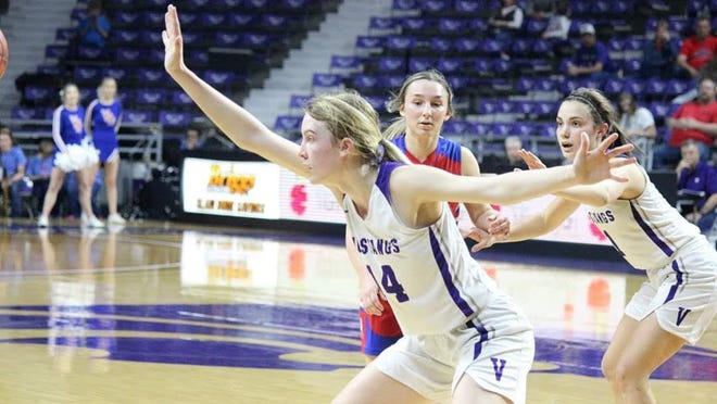 Maddy Vermetten and Valley Heights are back in the Class 2A state semifinals after seeing last year's state tournament cut short. The Mustangs are 21-1 and take on Colgan in Friday's 7 p.m. semifinal.