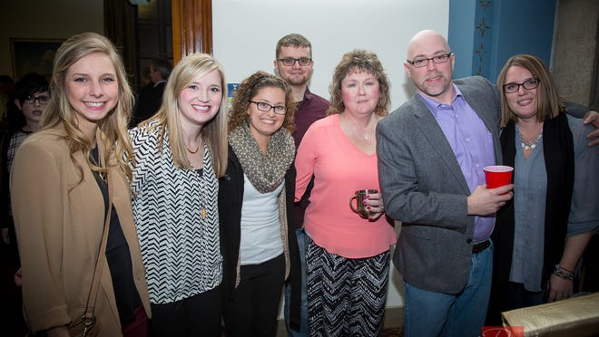 Performance Marketing received Best of Show honors at the annual at the American Advertising Awards. Pictured, from left to right: Jenn Saak, Emily Hughes, Ellie Walter, Roman Serebryakov, Lori Strom, Paul Richards and Diane Richards.