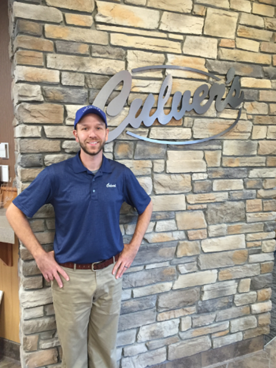 Vinnie Busalacchi in front of his new Culver's