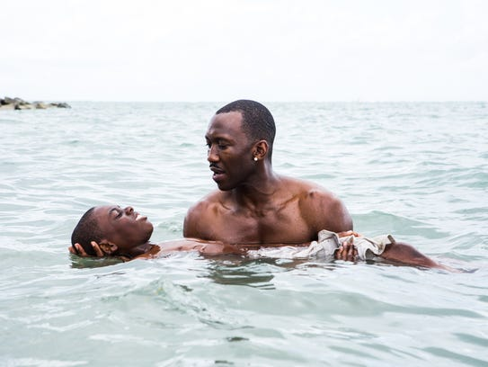 "Mahershala Ali and Jaden Piner in ""Moonlight."""