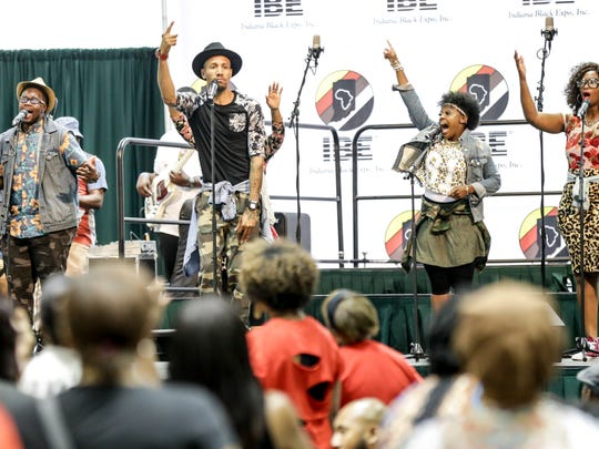 Bicentennial Commission members say they plan to reach out to the Indiana Black Expo for inclusion in bicentennial branding. This photo of the Judah Band performing is from 2016's Expo Gospel Showcase.