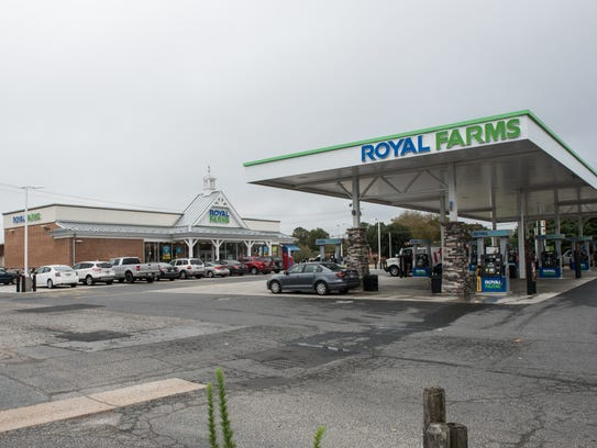 An exterior view of the Royal Farms on the corner of