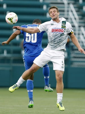 Rochester Rhinos forward Colin Rolfe in a game on July 8, 2015.