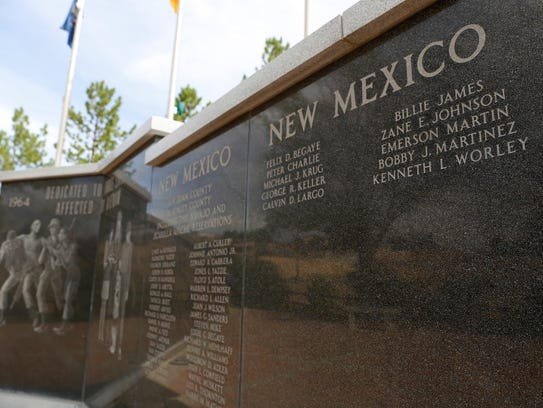A memorial at Vietnam Veterans Park in Farmington is