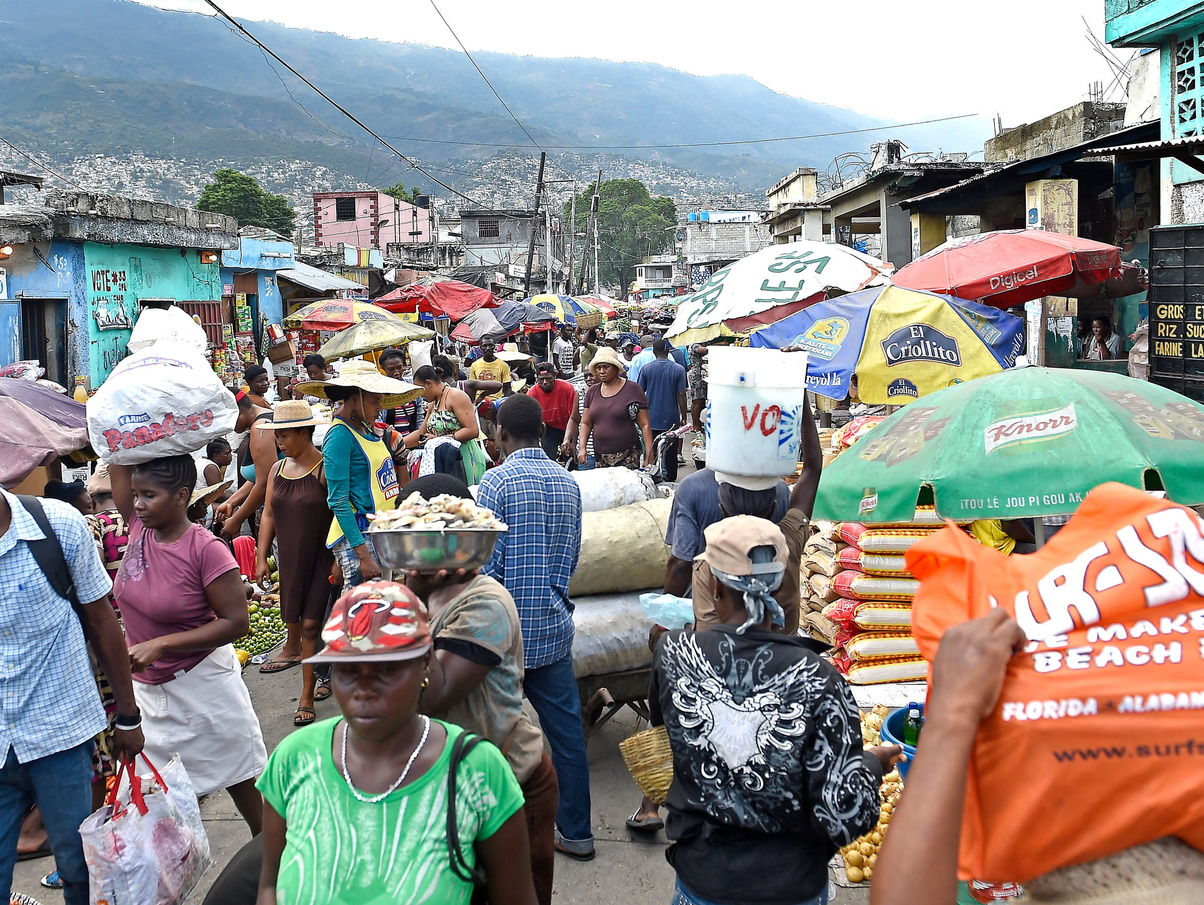 Shoppers and merchants navigate the close quarters