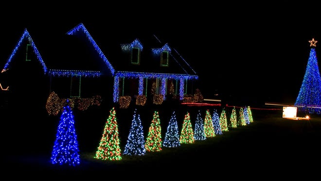 Gregg Hawkins' holiday lights display in 2012 featured about 42,000 lights.