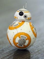 A Sphero BB-8 Star Wars droid rolls around at the Sphero