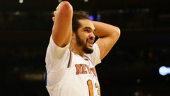 New York Knicks center Joakim Noah has played in only