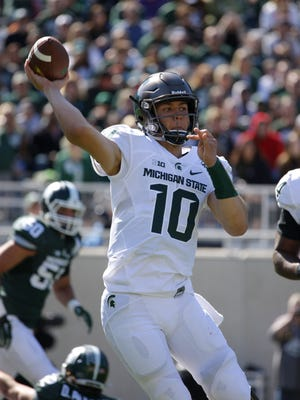 True freshman Messiah deWeaver showed some of his potential in MSU's spring game. He hasn't played yet this season, with MSU intending to redshirt him.